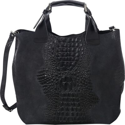 Sharo Leather Bags Italian Leather Handbag Tote Black