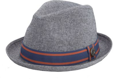 Ben Sherman Cotton Chambray Trilby Hat Nickel Grey-Small/Medium - Ben Sherman Hats