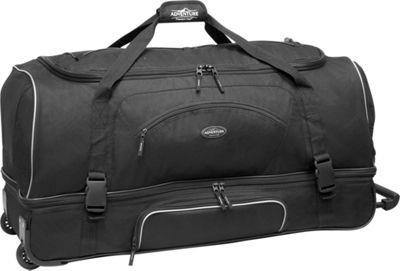 Travelers Club Luggage Adventure 30 inch 2-Section Drop Bottom Rolling Duffel Black - Travelers Club Luggage Rolling Duffels