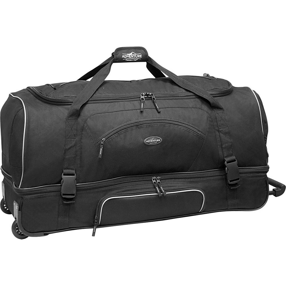 "Travelers Club Luggage Adventure 30"" Rolling 2-Tone Multi-Pocket Large Packing Capacity Duffel Black - Travelers Club Luggage Travel Duffels"
