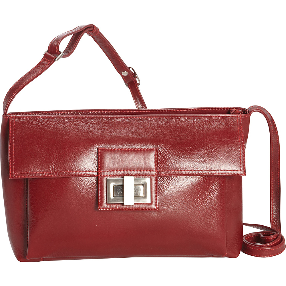 Derek Alexander Inset Top Zip Crossbody Red - Derek Alexander Leather Handbags - Handbags, Leather Handbags