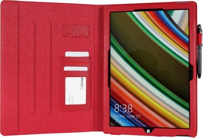 rooCASE Microsoft Surface Pro 3 Case - Dual View Folio Cover Red - rooCASE Laptop Sleeves