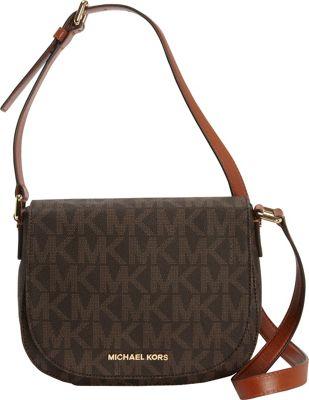 MICHAEL Michael Kors Bedford Medium Flap Messenger Brown - MICHAEL Michael Kors Designer Handbags