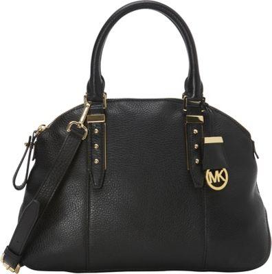 MICHAEL Michael Kors Bowery Medium Satchel Black - MICHAEL Michael Kors Designer Handbags