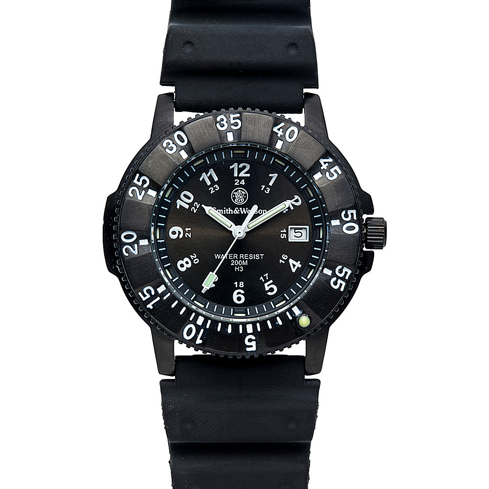 Smith & Wesson Watches Sport Swiss Tritium Watch Nylon Straps Black - Smith & Wesson Watches Watches