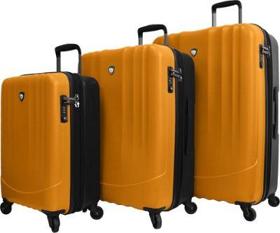 Mia Toro ITALY Polipropilene Hardside Spinner 3PC Set Orange - Mia Toro ITALY Luggage Sets