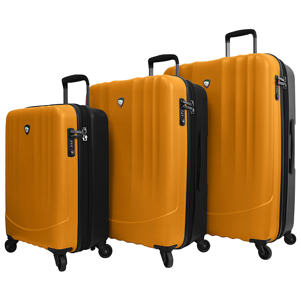 Mia Toro ITALY Polipropilene Hardside Spinner 3PC Set Orange Mia Toro ITALY Luggage Sets