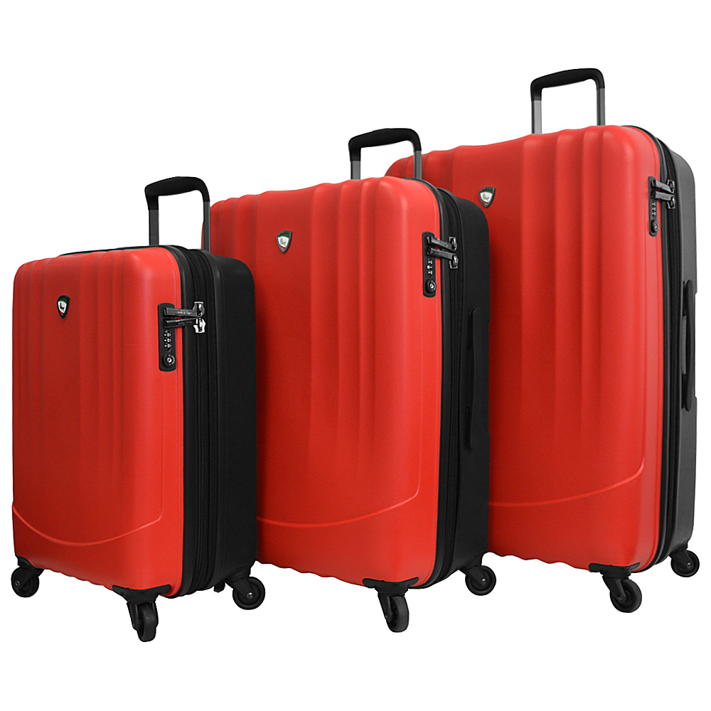Mia Toro ITALY Polipropilene Hardside Spinner 3PC Set Red Mia Toro ITALY Luggage Sets