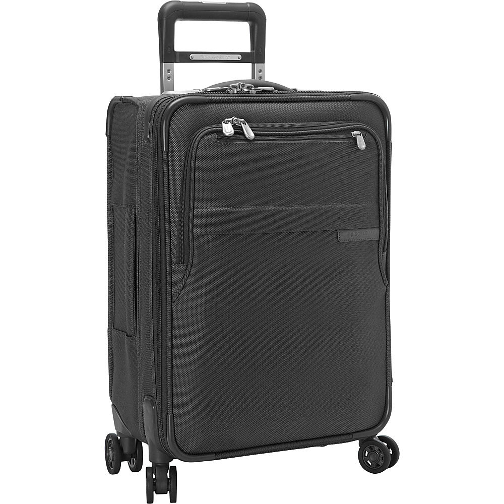 Briggs & Riley Baseline CX Domestic Carry-On Expandable Spinner Black - Briggs & Riley Softside Carry-On