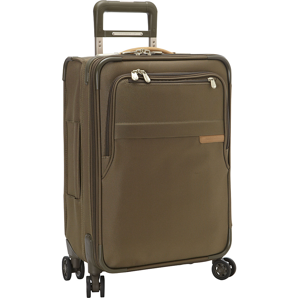 Briggs & Riley Baseline CX Domestic Carry-On Expandable Spinner Olive - Briggs & Riley Softside Carry-On