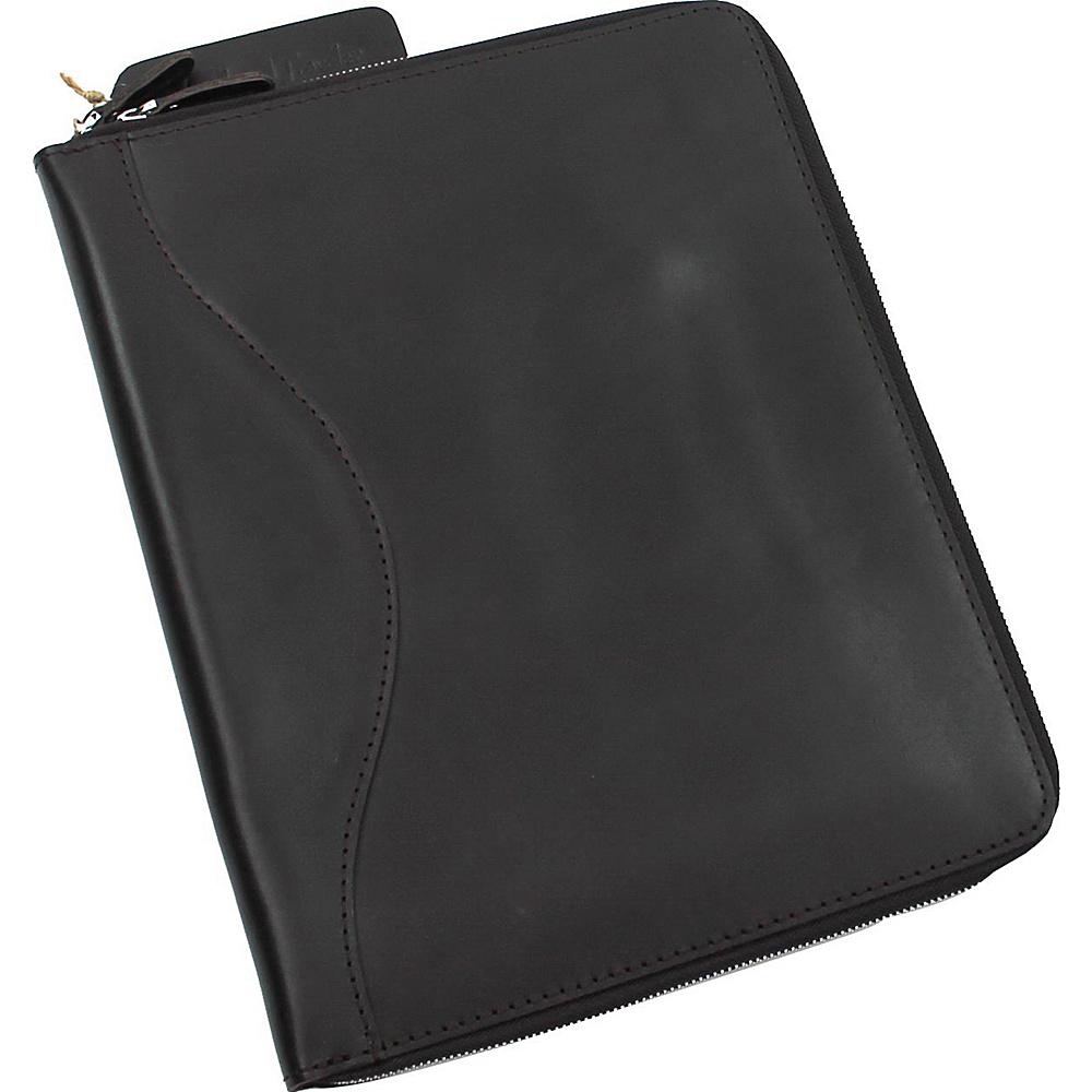 Vagabond Traveler Large Leather Portfolio Business Folder Black - Vagabond Traveler Business Accessories - Work Bags & Briefcases, Business Accessories