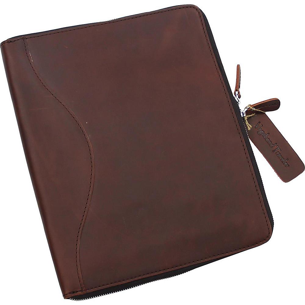 Vagabond Traveler Large Leather Portfolio Business Folder Reddish Brown - Vagabond Traveler Business Accessories - Work Bags & Briefcases, Business Accessories