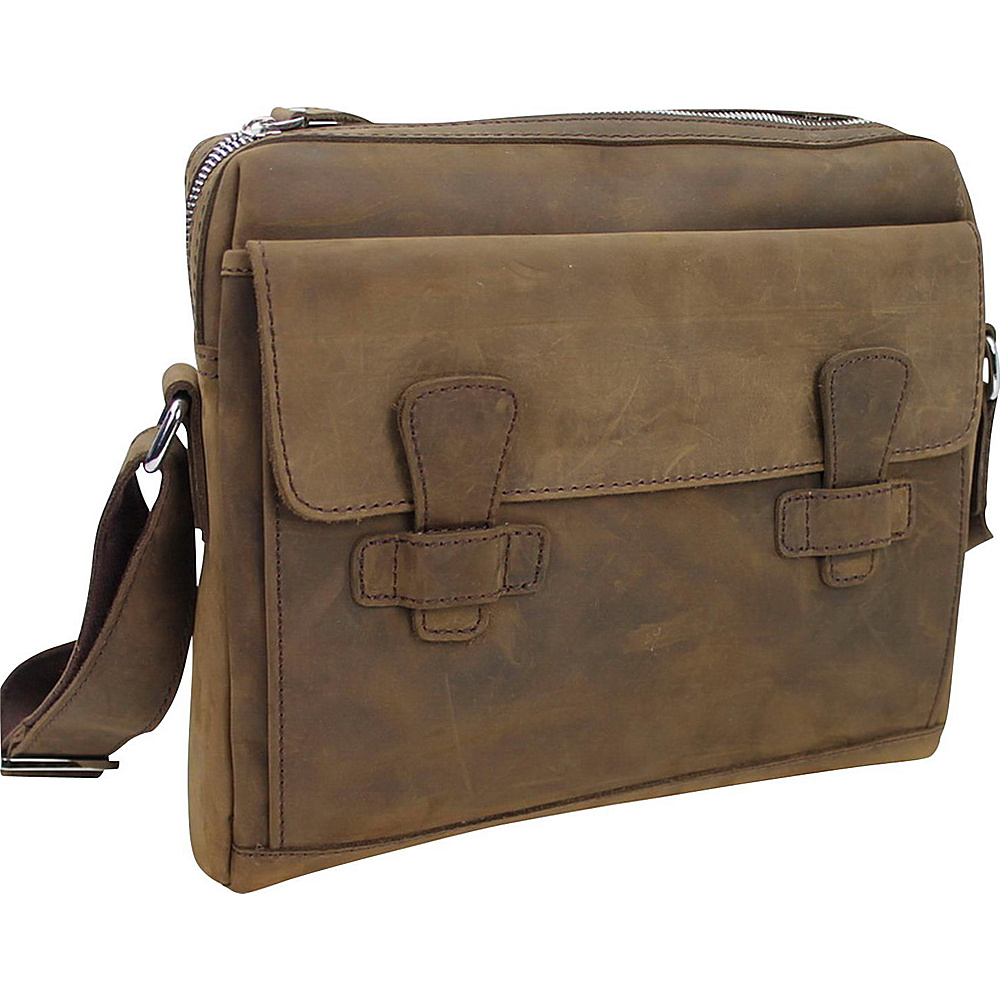 Vagabond Traveler 13 Leather Messenger Shoulder Bag Distress - Vagabond Traveler Messenger Bags - Work Bags & Briefcases, Messenger Bags