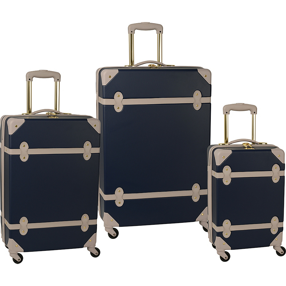 Diane Von Furstenberg Saltui Three Piece Hardside Set Ink/Oyster - Diane Von Furstenberg Luggage Sets