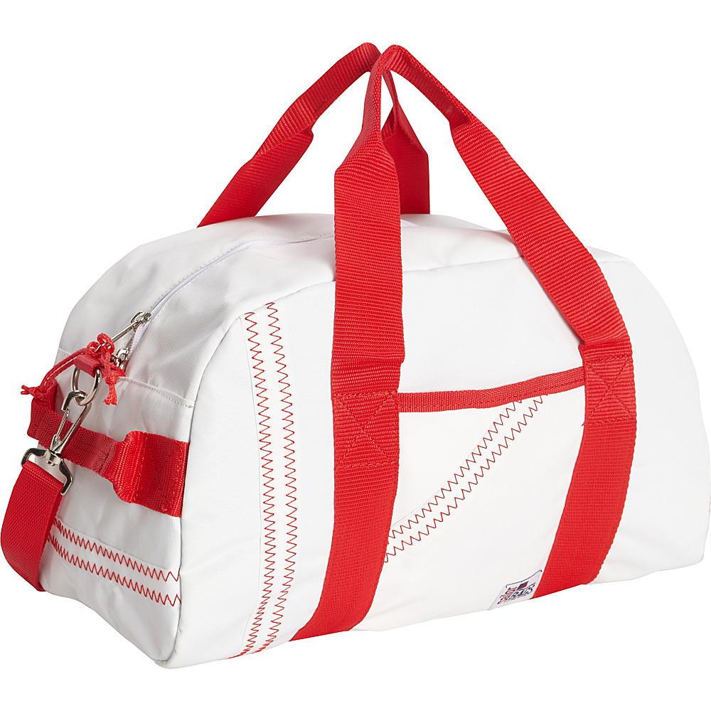 SailorBags Mini Duffle White Red SailorBags Travel Duffels