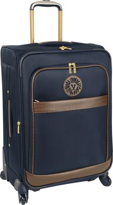 """Image of Anne Klein Luggage Newport 24"""" Expandable Spinner Navy - Anne Klein Luggage Softside Checked"""