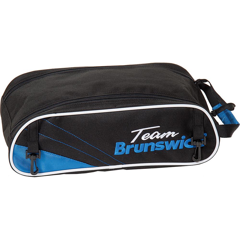 Brunswick Bowling Team Brunswick Shoe Bag Black/Cobalt - Brunswick Bowling Bowling Bags