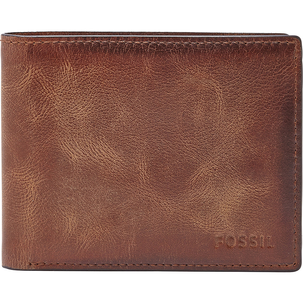 Fossil Derrick Flip ID Bifold Brown - Fossil Mens Wallets - Work Bags & Briefcases, Men's Wallets