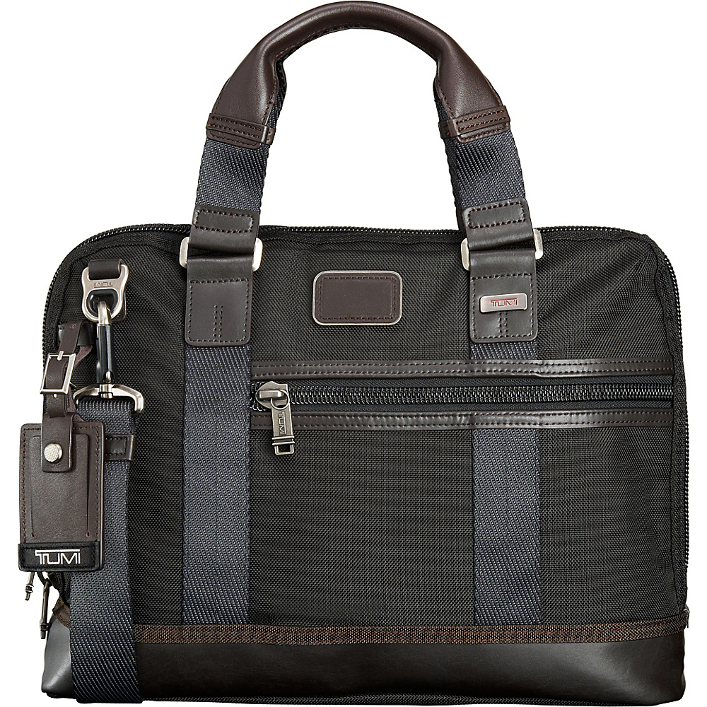 Tumi Alpha Bravo Earle Compact Brief Hickory Tumi Non Wheeled Business Cases