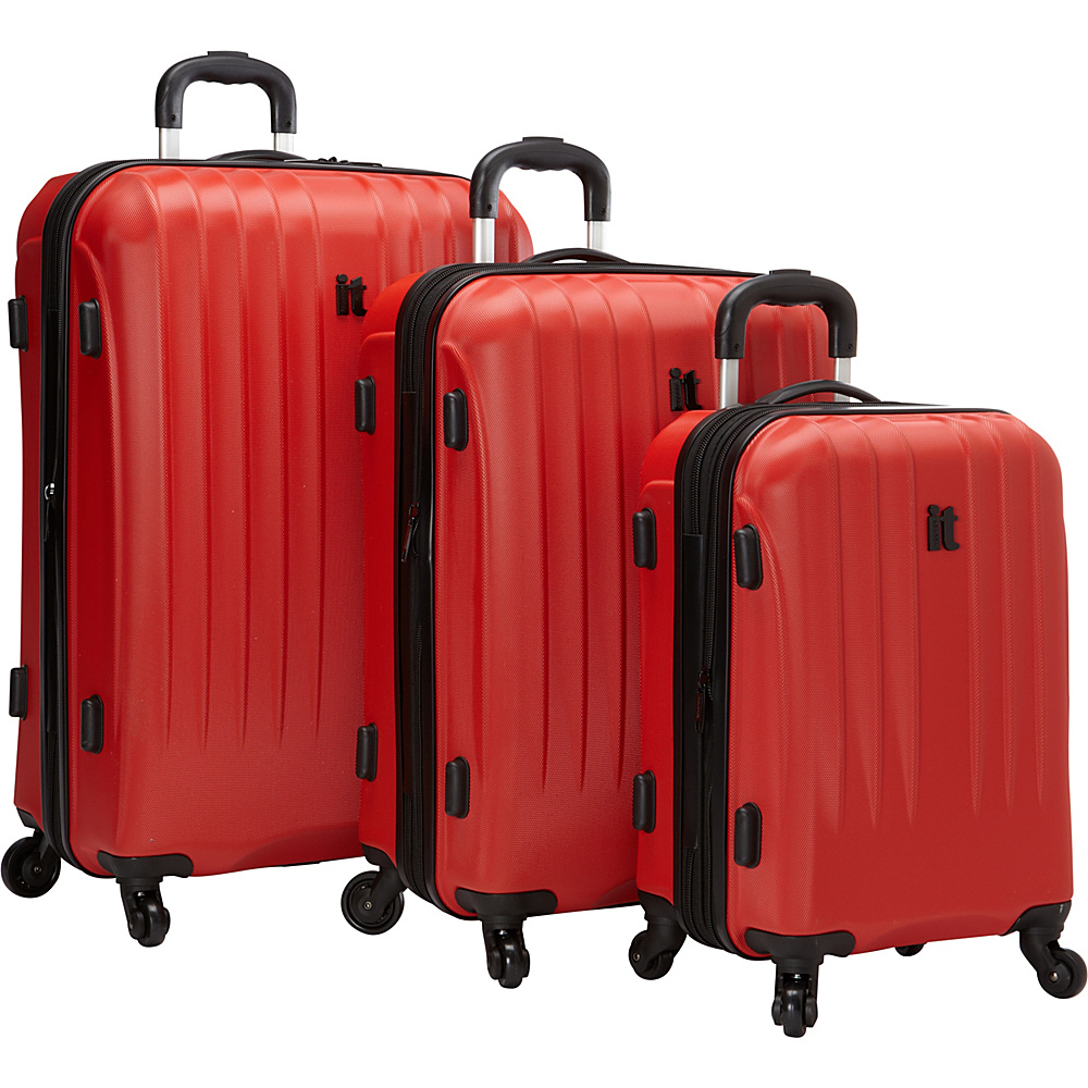 it luggage Air 360 3PC Luggage Set Exclusive Fiery Red it luggage Luggage Sets