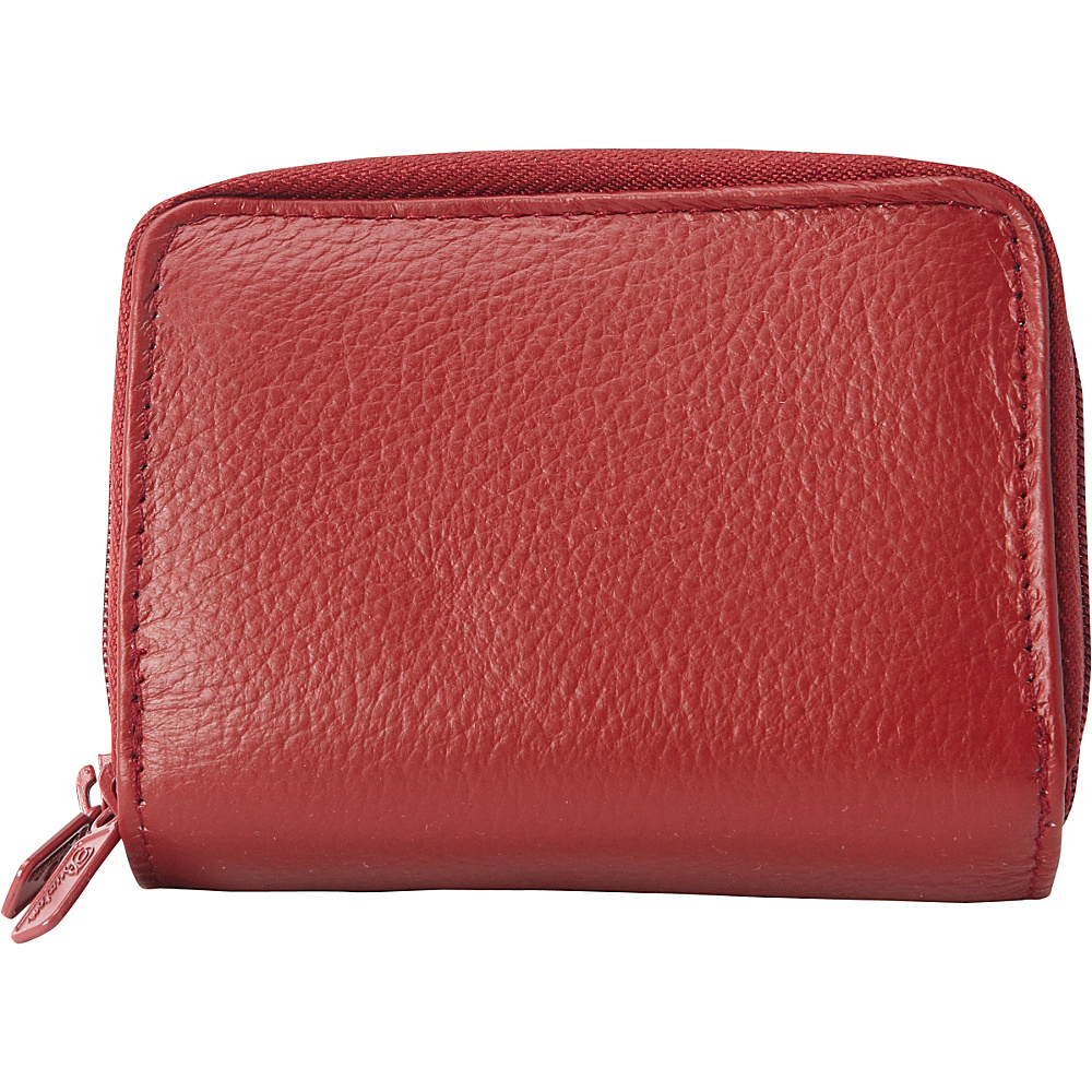 Buxton Pik-Me-Up Wizard Wallet - Exclusive Colors Dark Red - Buxton Womens Wallets - Women's SLG, Women's Wallets