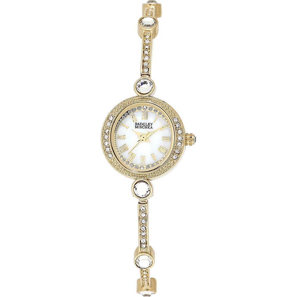 Badgley Mischka Watches Crystal Bangle Watch Gold - Badgley Mischka Watches Watches