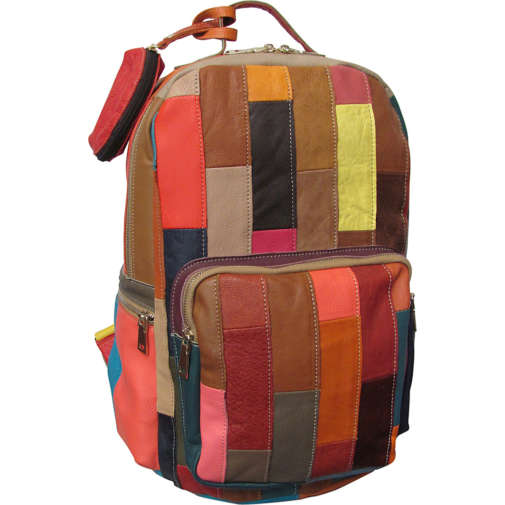 AmeriLeather Susie Leather Backpack Rainbow - AmeriLeather Everyday Backpacks - Backpacks, Everyday Backpacks