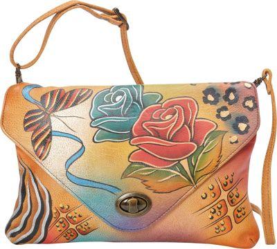 ANNA by Anuschka Envelop Clutch Rose Safari - ANNA by Anuschka Leather Handbags