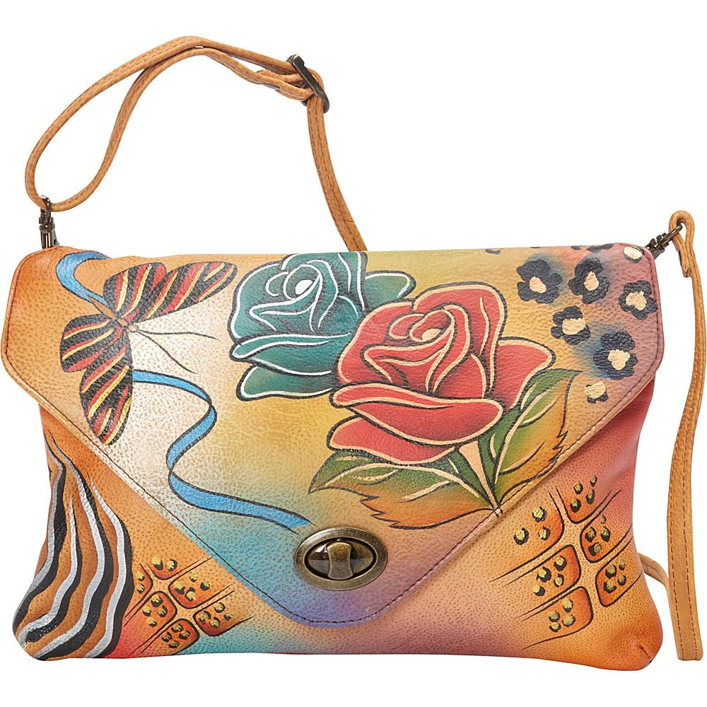 ANNA by Anuschka Envelop Clutch Rose Safari ANNA by Anuschka Leather Handbags