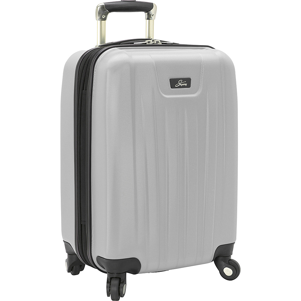Skyway Nimbus 2.0 20 4 Wheel Expandable Carry on Silver Skyway Softside Carry On
