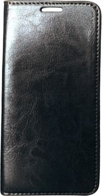 Vicenzo Leather Hudson Samsung Galaxy S6 Leather Folio Wallet Case Black - Vicenzo Leather Electronic Cases