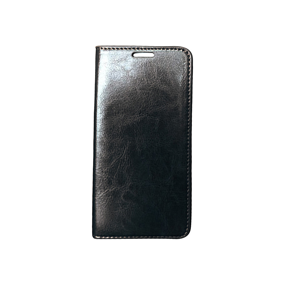 Vicenzo Leather Hudson Samsung Galaxy S6 Leather Folio Wallet Case Black Vicenzo Leather Electronic Cases