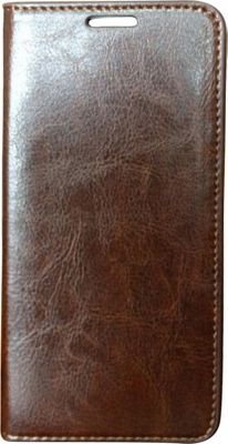 Vicenzo Leather Hudson Samsung Galaxy S6 Leather Folio Wallet Case Brown - Vicenzo Leather Electronic Cases