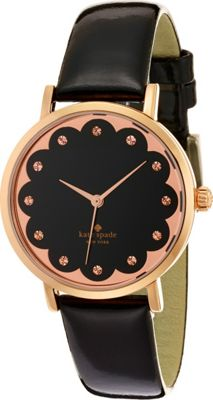 kate spade watches Scalloped Metro Black - kate spade watches Watches