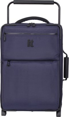 it luggage Worlds Lightest Los Angeles 2 Wheel 21.5 inch Carry On Navy/Blue 2 Tone - it luggage Softside Carry-On