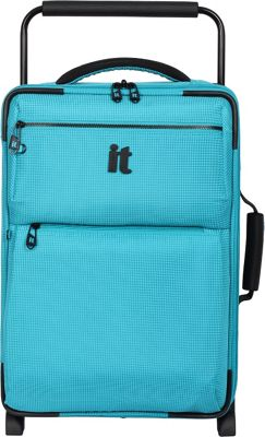 it luggage Worlds Lightest Los Angeles 2 Wheel 21.5 inch Carry On Turquoise 2 Tone - it luggage Softside Carry-On