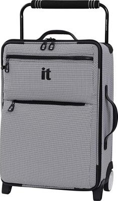 it luggage Worlds Lightest Los Angeles 2 Wheel 21.5 inch Carry On Black/White 2 Tone - it luggage Softside Carry-On