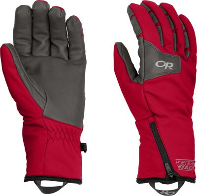 Outdoor Research Stormtracker Gloves Chili/Charcoal – SM - Outdoor Research Gloves