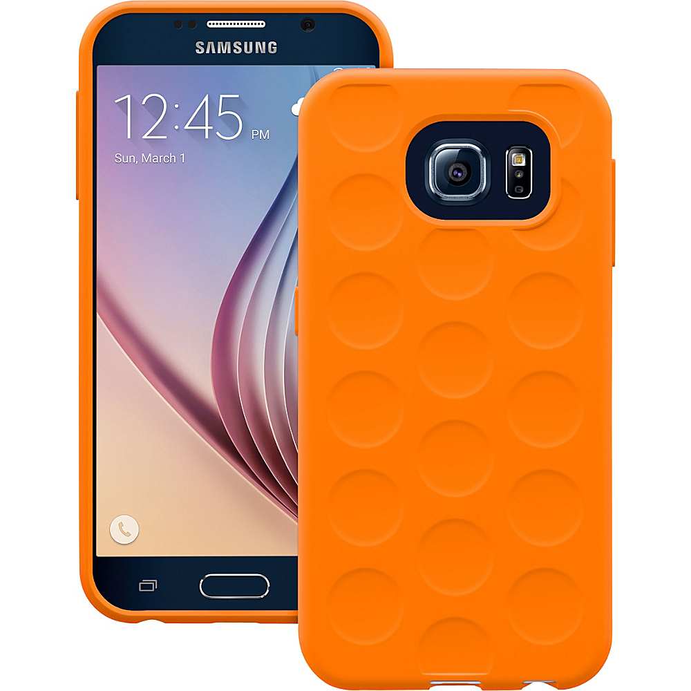 Trident Case Krios Phone Case for Samsung Galaxy S6 Orange Bubble Trident Case Electronic Cases