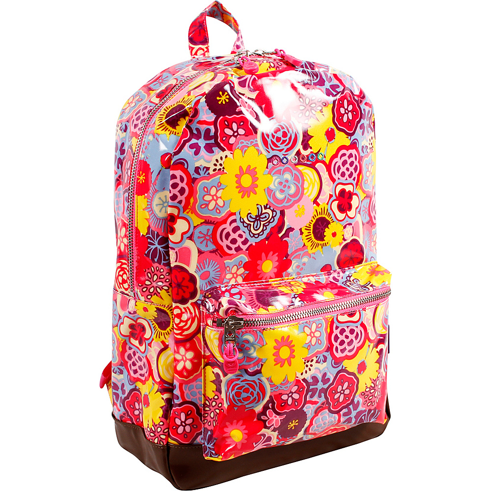 J World New York Lena Laptop Backpack POPPY PANSY - J World New York School & Day Hiking Backpacks - Backpacks, School & Day Hiking Backpacks