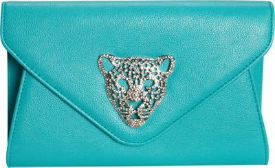 JNB Tiger Clutch Aqua - JNB Manmade Handbags
