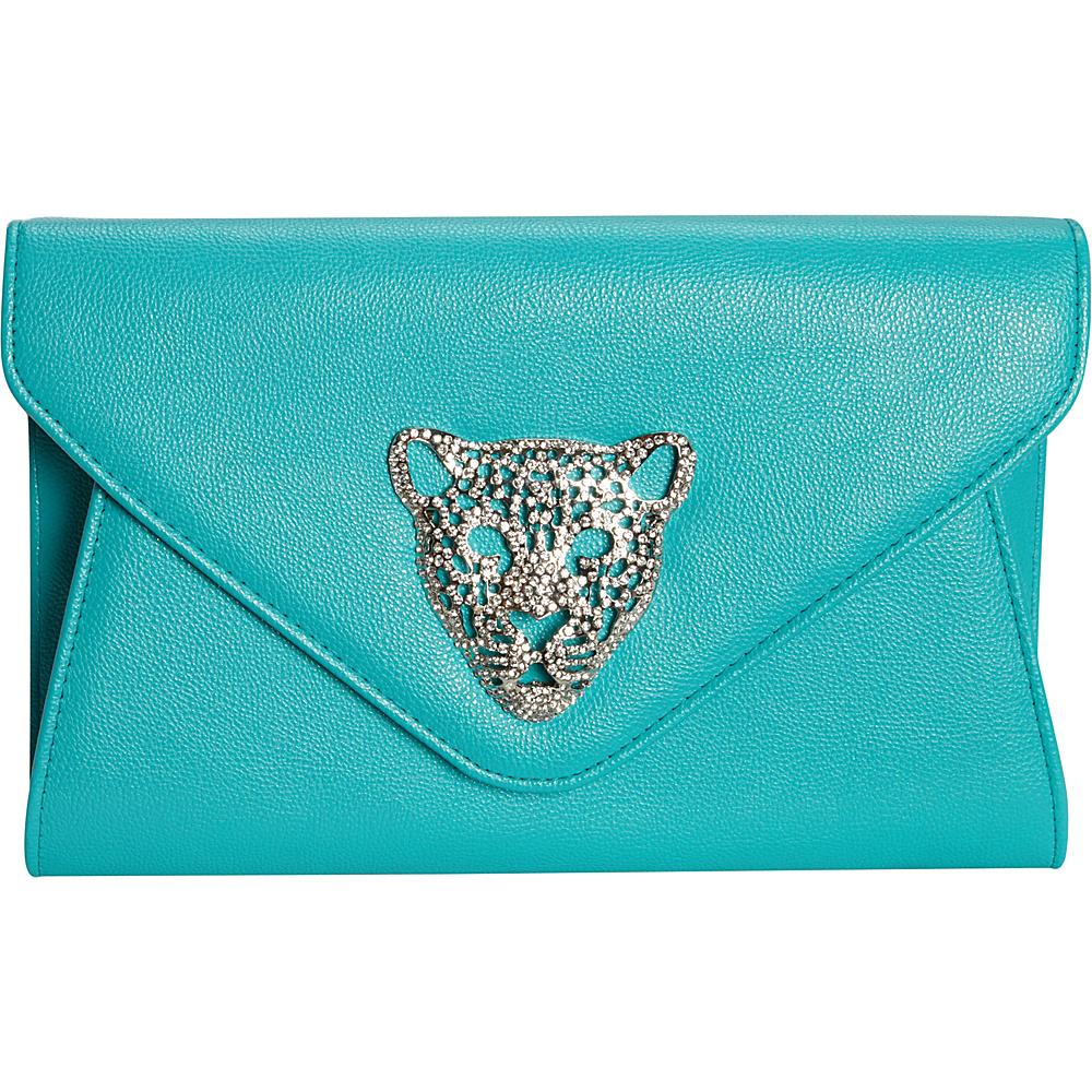 JNB Tiger Clutch Aqua JNB Manmade Handbags