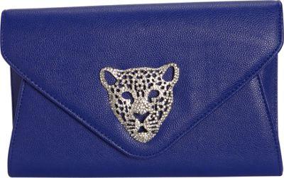 JNB Tiger Clutch Blue - JNB Manmade Handbags