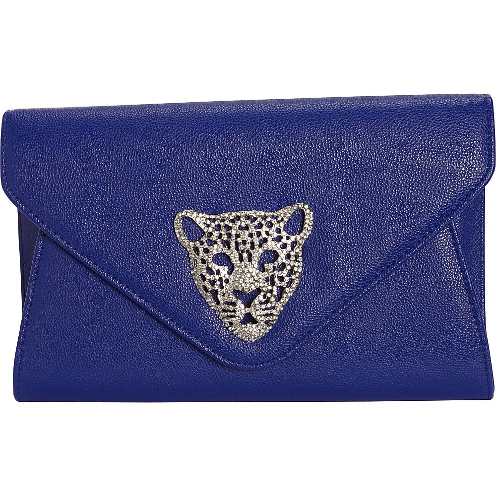 JNB Tiger Clutch Blue JNB Manmade Handbags