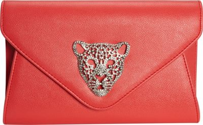 JNB Tiger Clutch Coral - JNB Manmade Handbags
