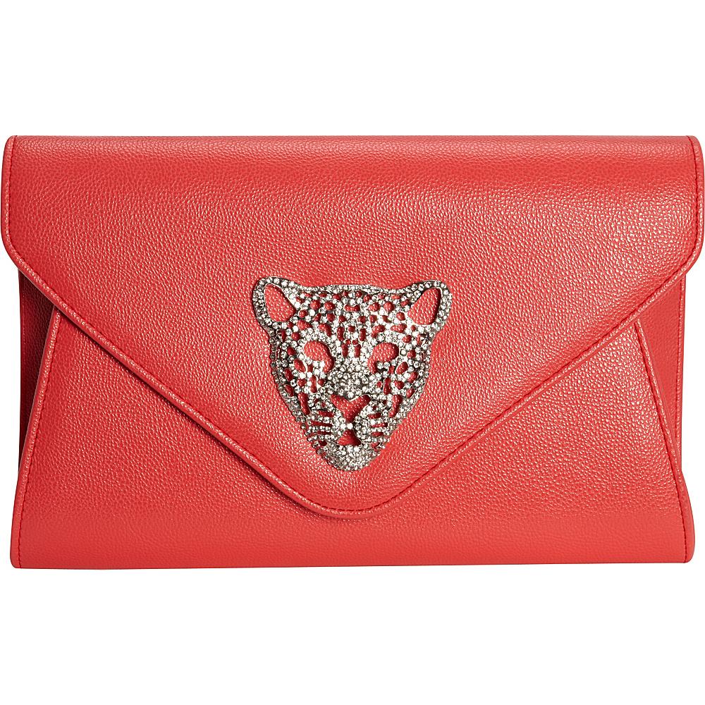 JNB Tiger Clutch Coral JNB Manmade Handbags