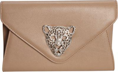JNB Tiger Clutch Taupe - JNB Manmade Handbags