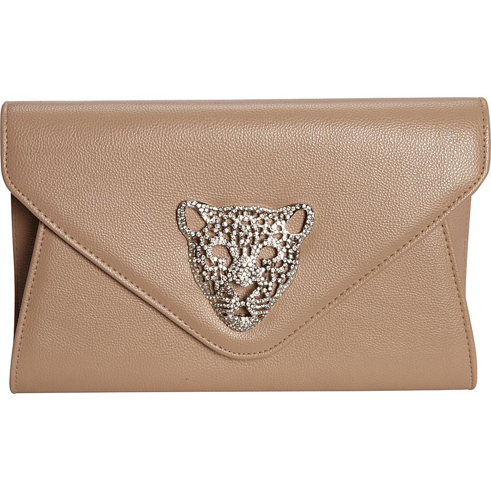 JNB Tiger Clutch Taupe JNB Manmade Handbags