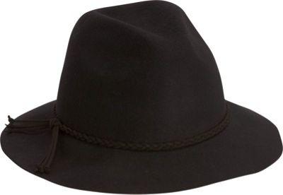 Adora Hats Wool Felt Safari Hat Black - Adora Hats Hats
