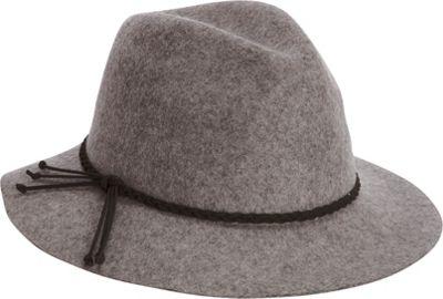 Adora Hats Wool Felt Safari Hat One Size - Grey - Adora Hats Hats